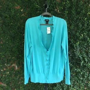 Lane Bryant Blue Cardigan Sweater Size 26/28